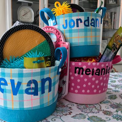 How to Personalize Easter Baskets with Iron-On Vinyl