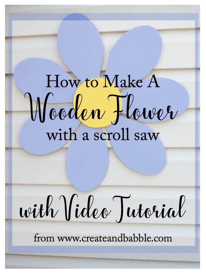 How to Make a Wooden Flower from createandbabble.com