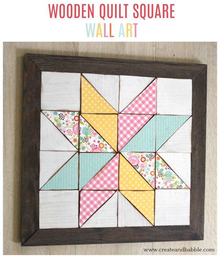 How to make a wood quilt square wall hanging