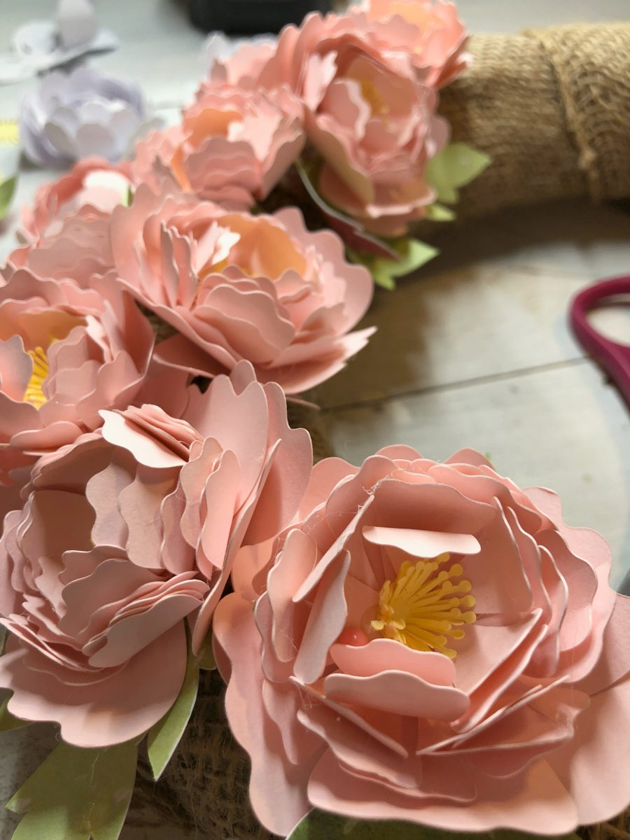 Making Paper Flowers With A Cricut Create And Babble