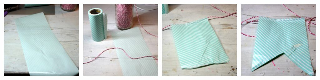 How to make a pennant banner with washi tape