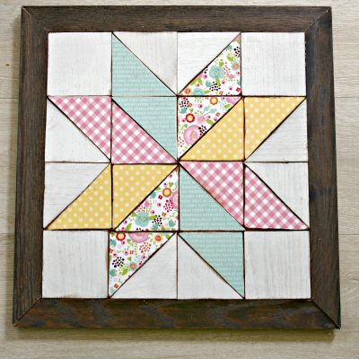 Wooden Quilt Block Wall Art