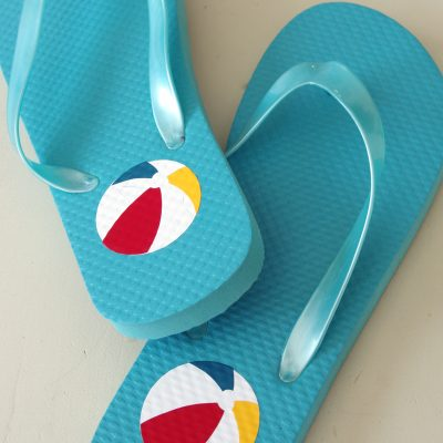How to Apply Heat Transfer Vinyl (HTV) to Flip Flops