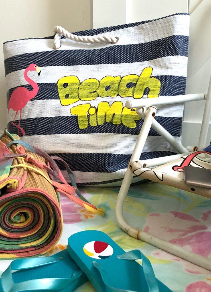 dollar store beach bag makeover