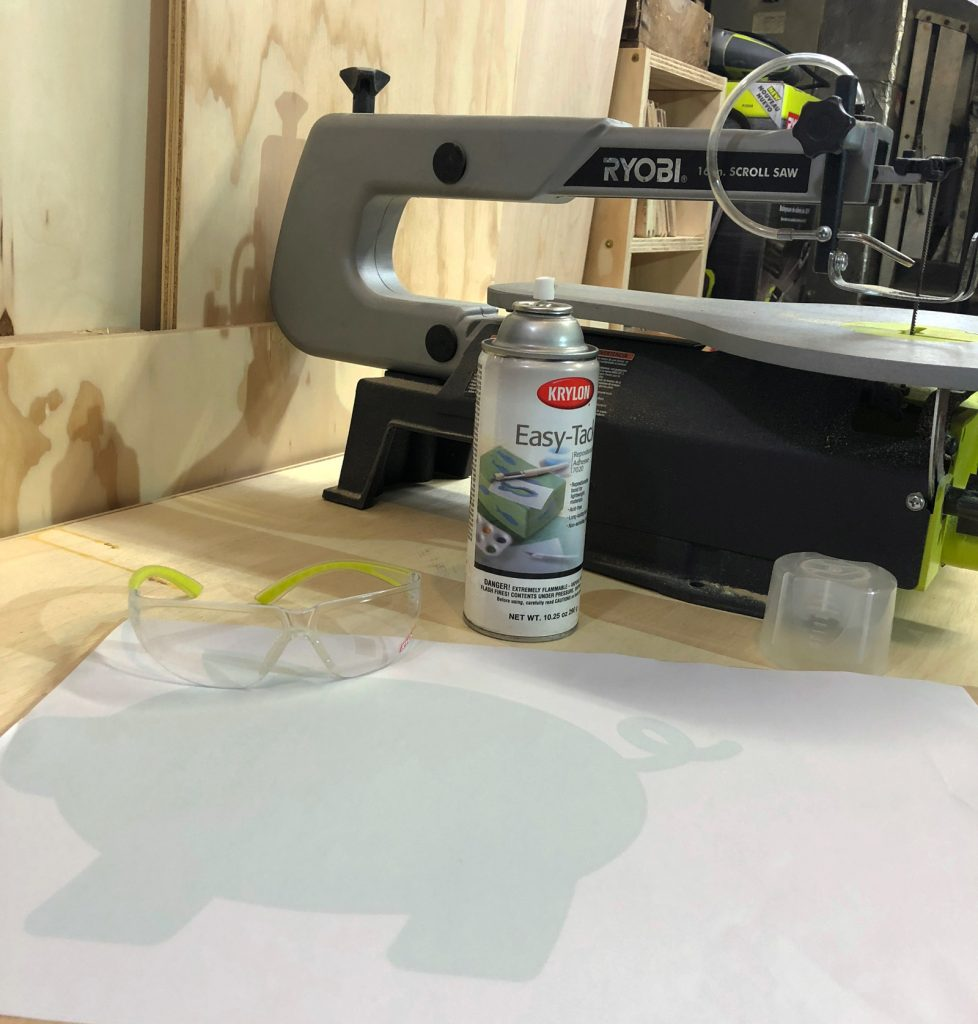 How to make a wooden pig cutting board with a scroll saw