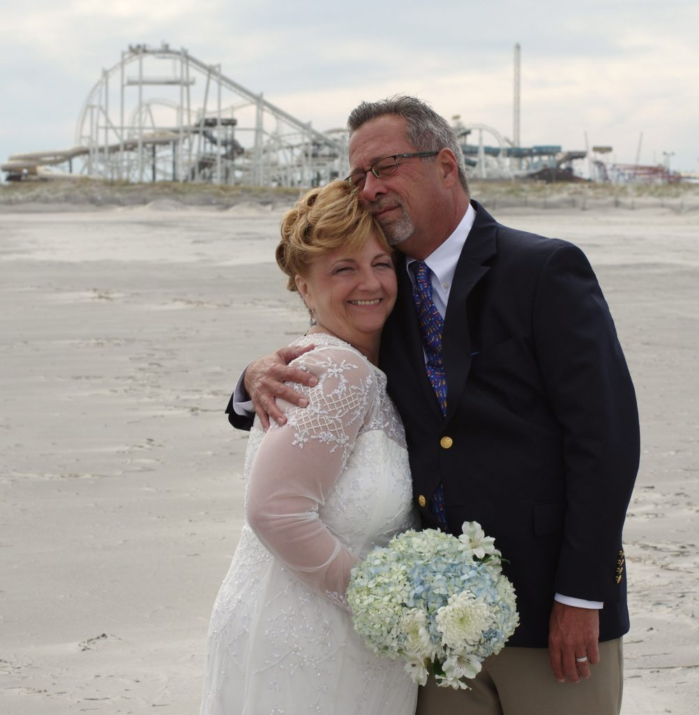 Getting married on the beach at North Wildwood New Jersey