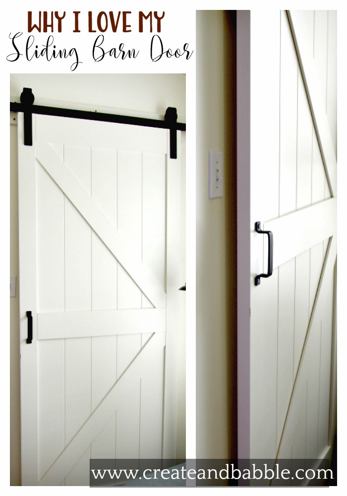 why i love my sliding barn door