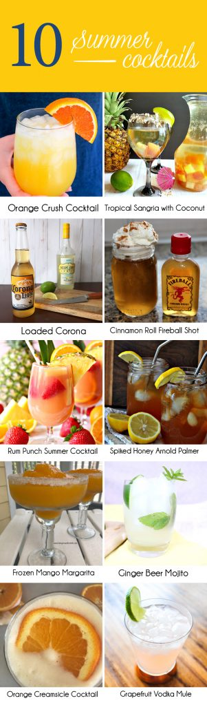 10 Summer Cocktails Recipes