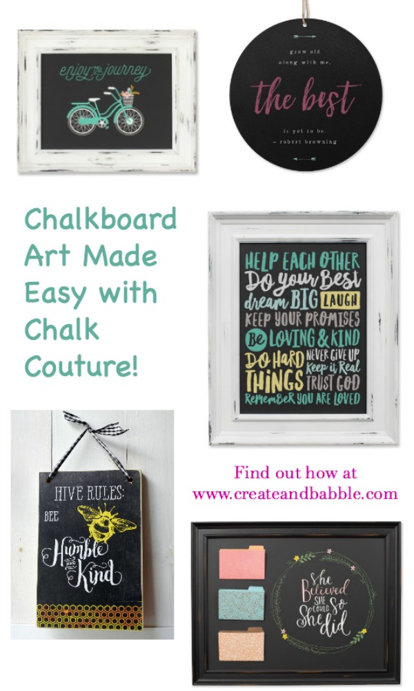Chalkboard Art Made Easy pin graphic
