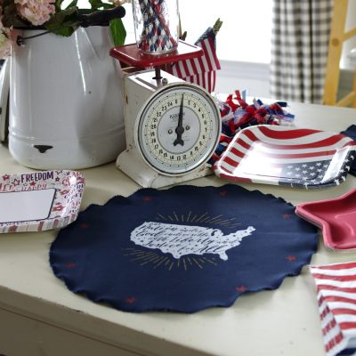 Americana Placemats Made Using Chalk Couture