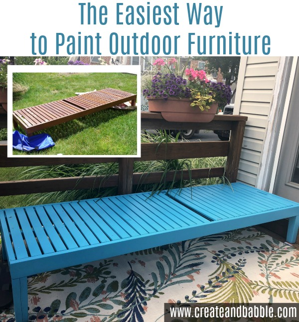 The easiest way to paint outdoor furniture is by using a HomeRight paint sprayer