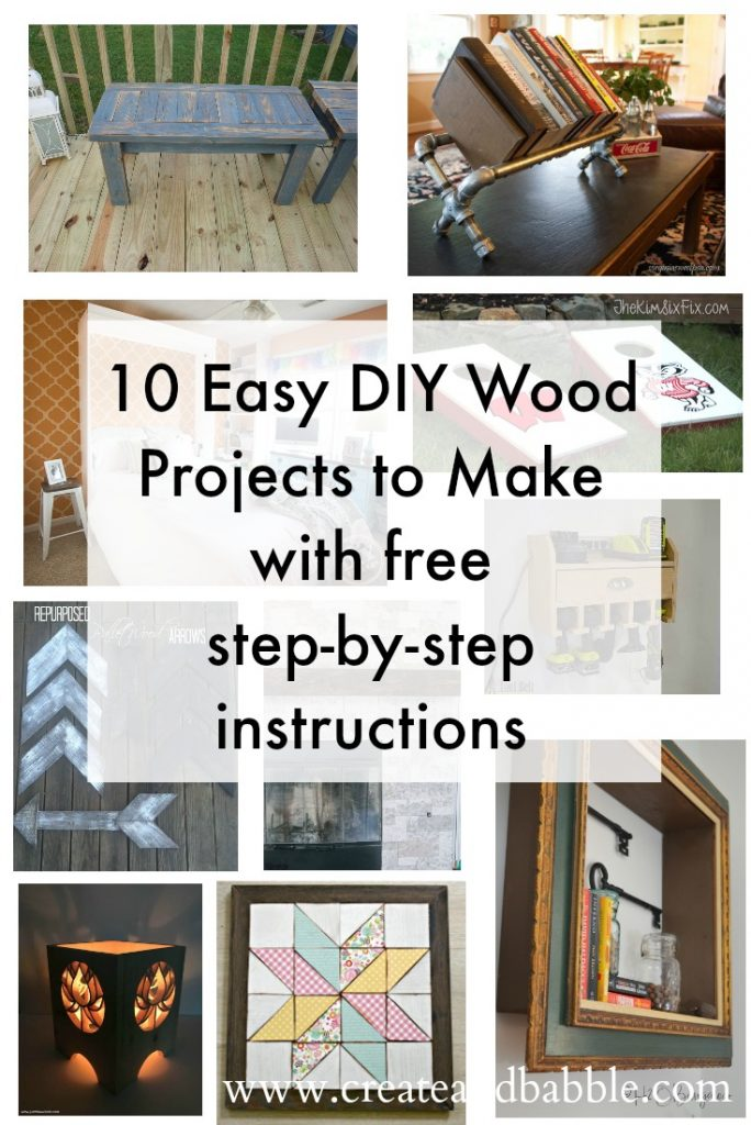 10 Easy DIY Wood Projects to Make with free step-by-step instructions