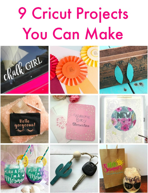 9 projects you can make with your Cricut!