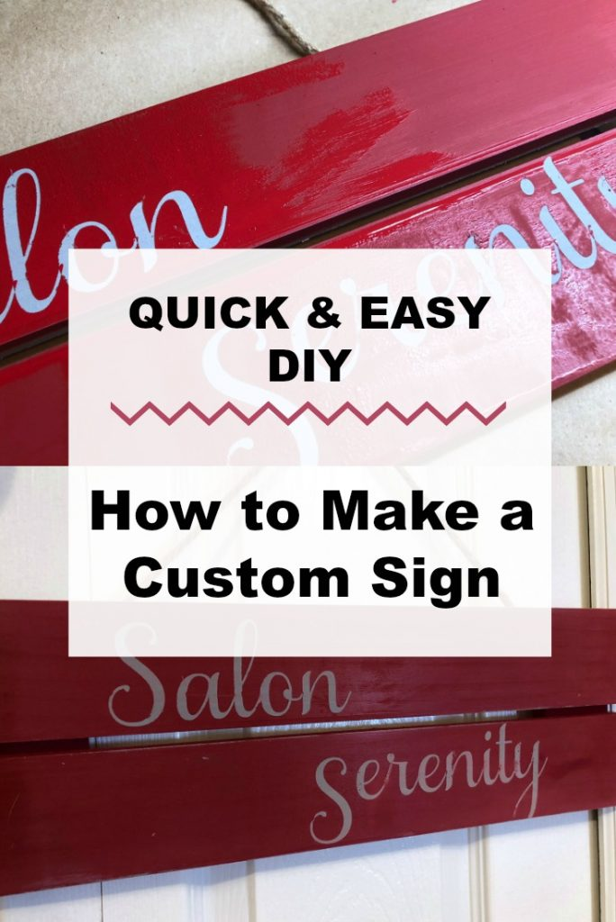 Quick and Easy DIY How to Make a Custom Sign