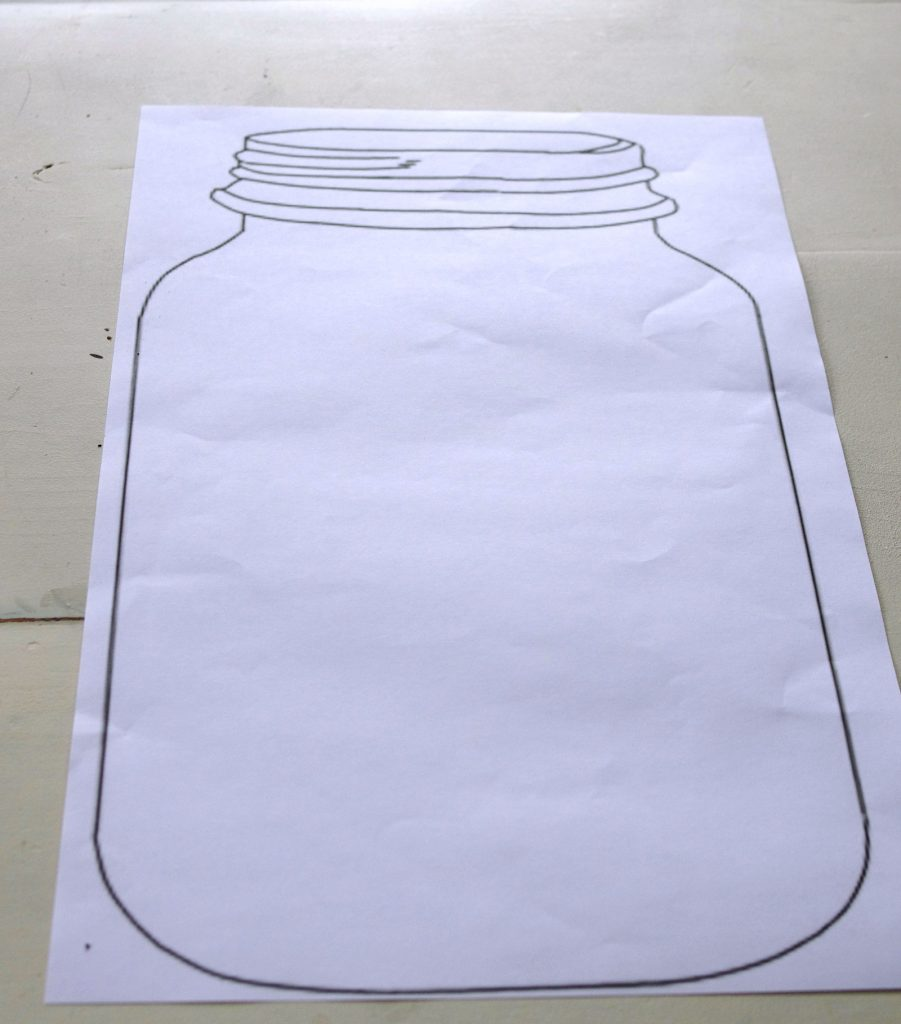 Step One - Print template for mason jar