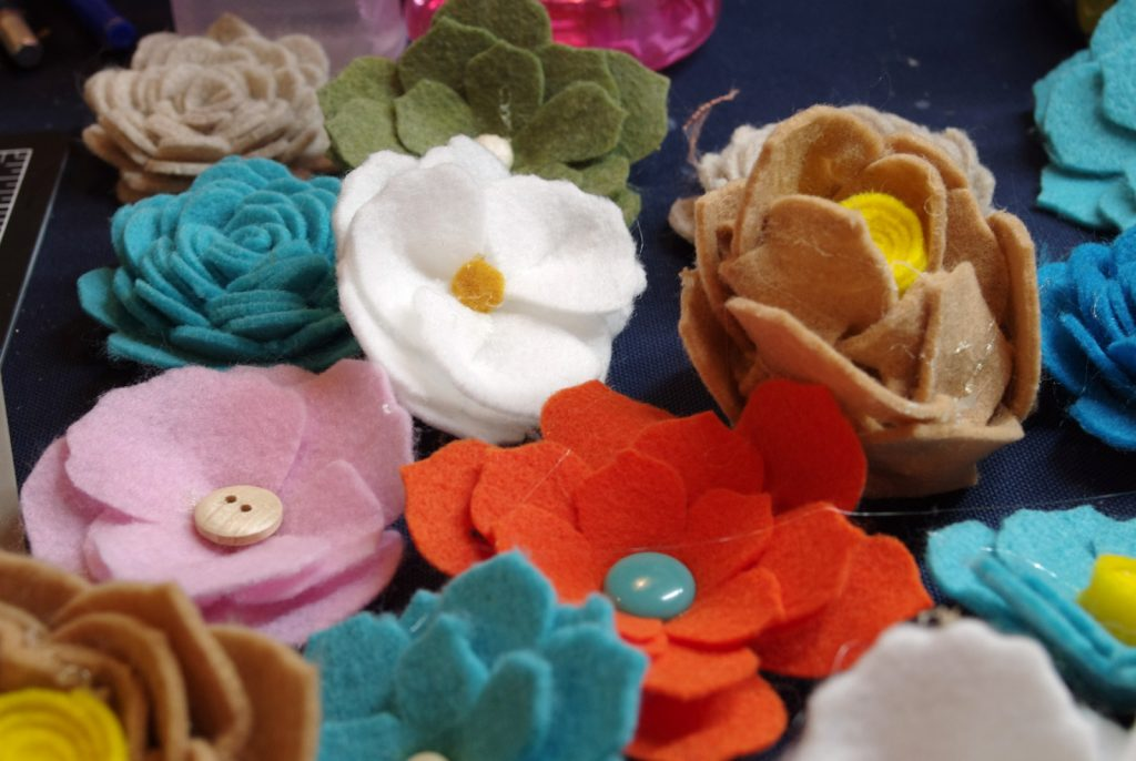 Finished Felt Flowers