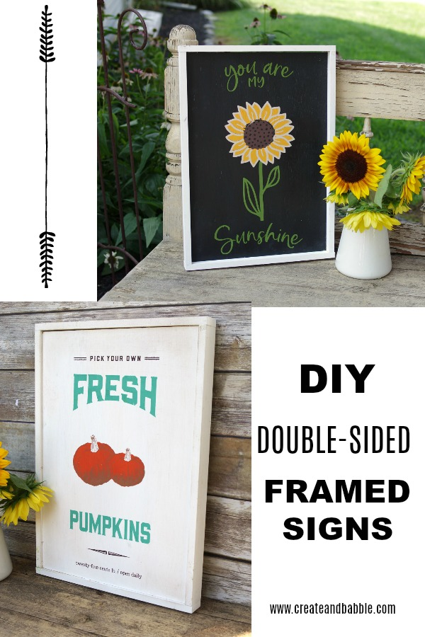 diy double sided wood framed signs