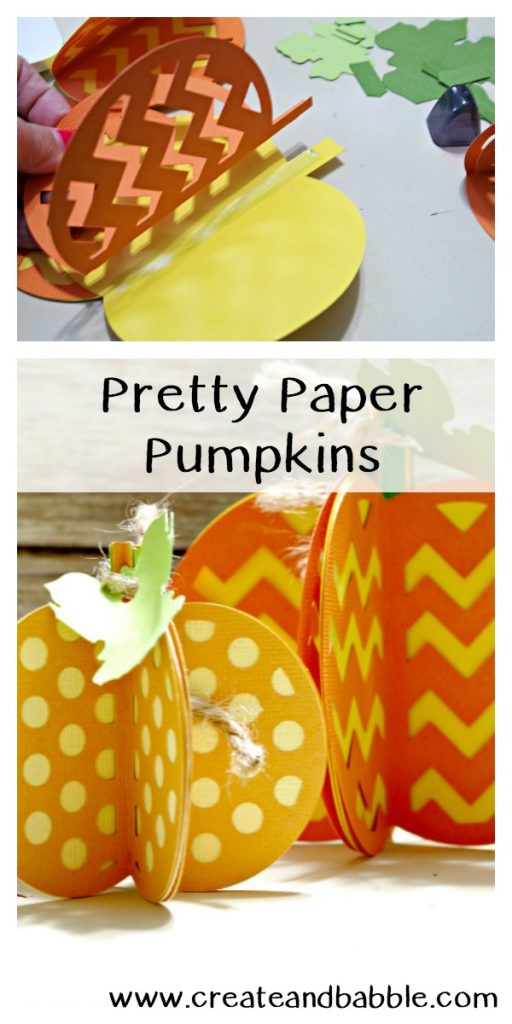 How to Make Pretty Paper Pumpkins with Cricut