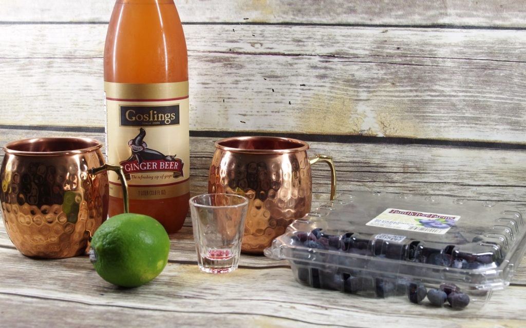 How to maek Blueberry Moscow Mules