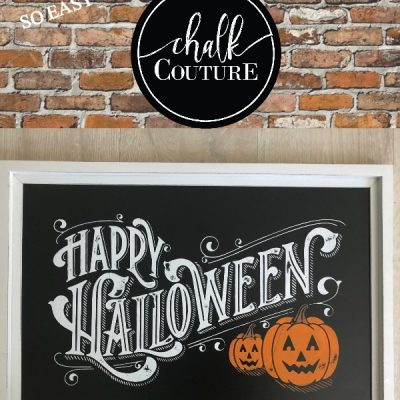 Easy Halloween Chalkboard Art