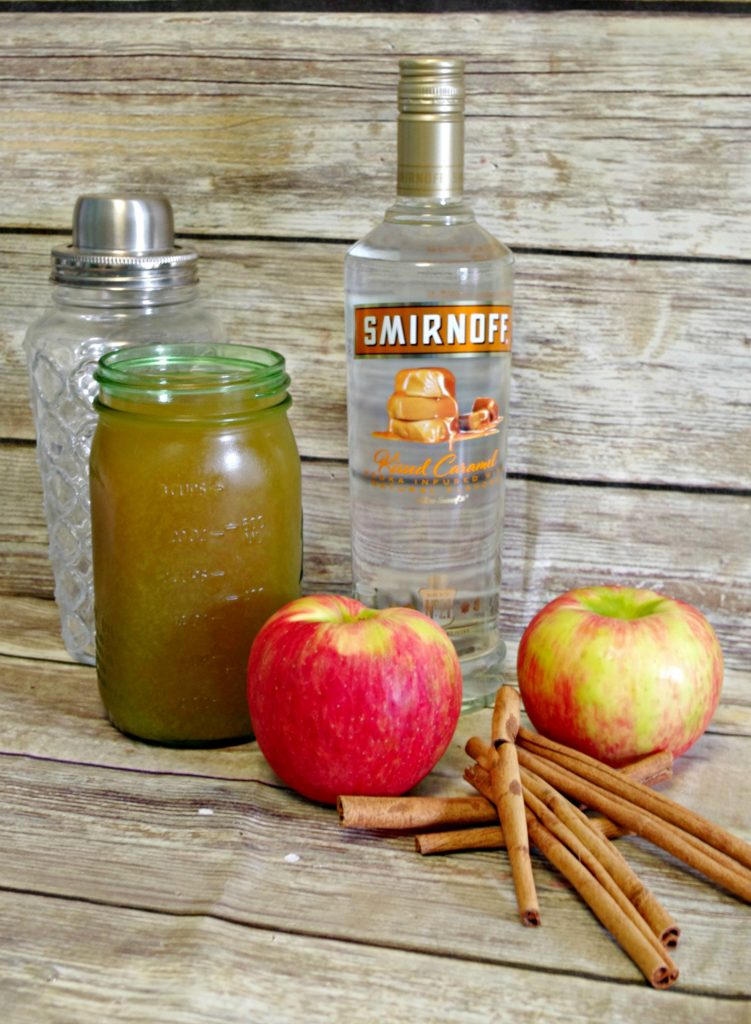 ingredients for apple cinnamon martini