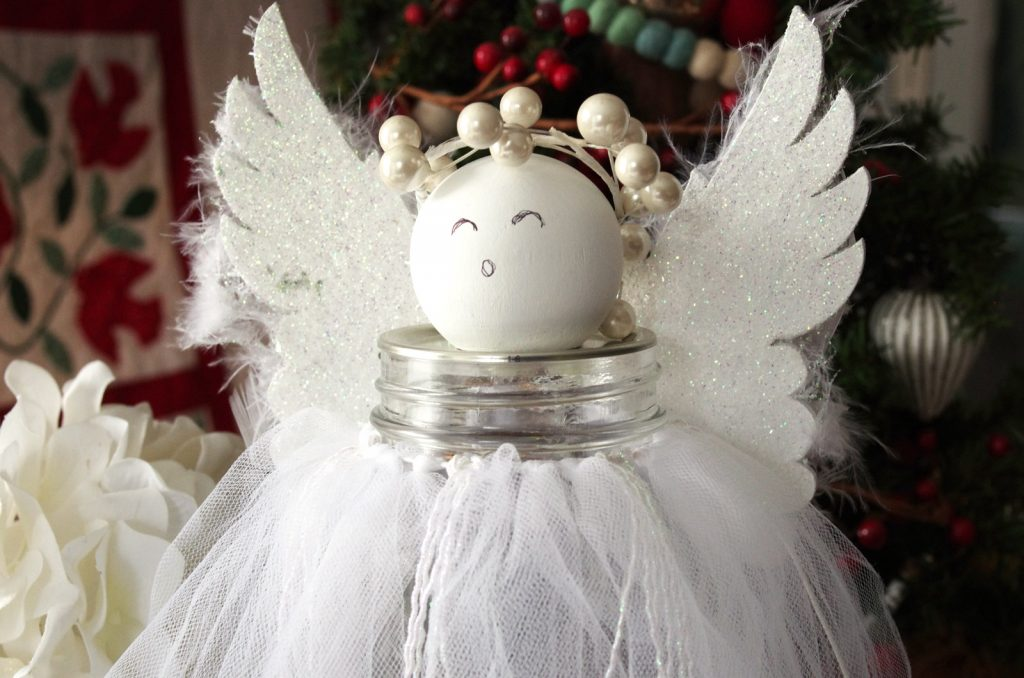 Mason Jar Christmas Angel