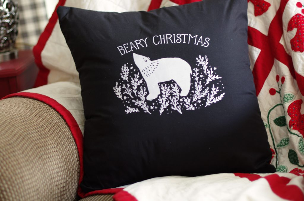 How to Use Chalk Couture products to make the prettiest Christmas Pillow Covers