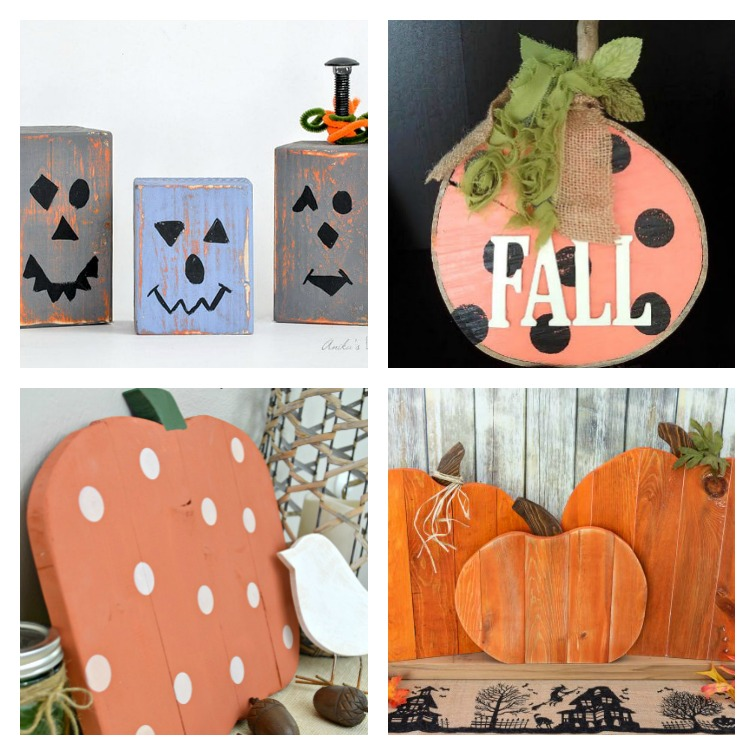 Collage Wood Pumpkins DIY Create and Babble