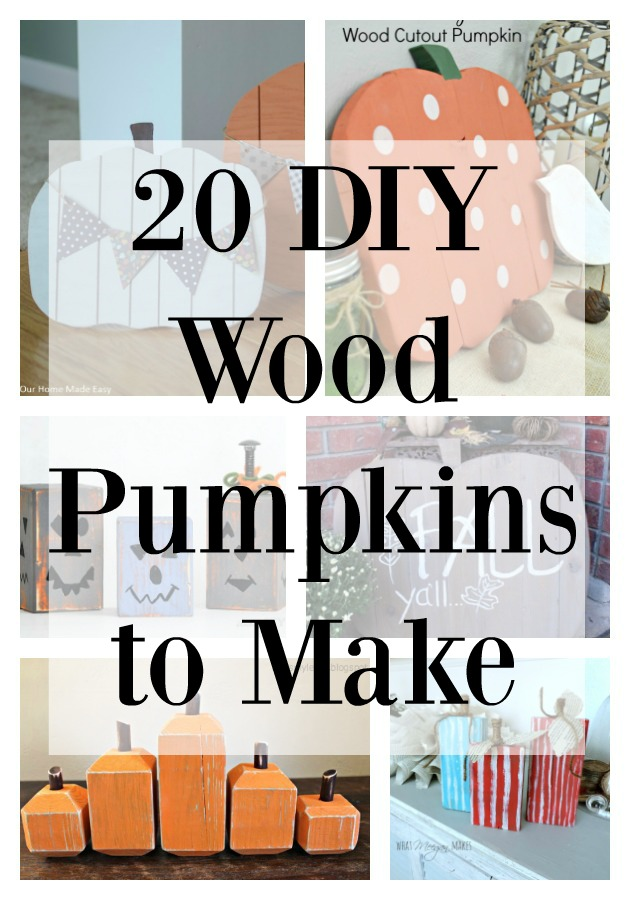20 DIY Wooden Pumpkins to Make