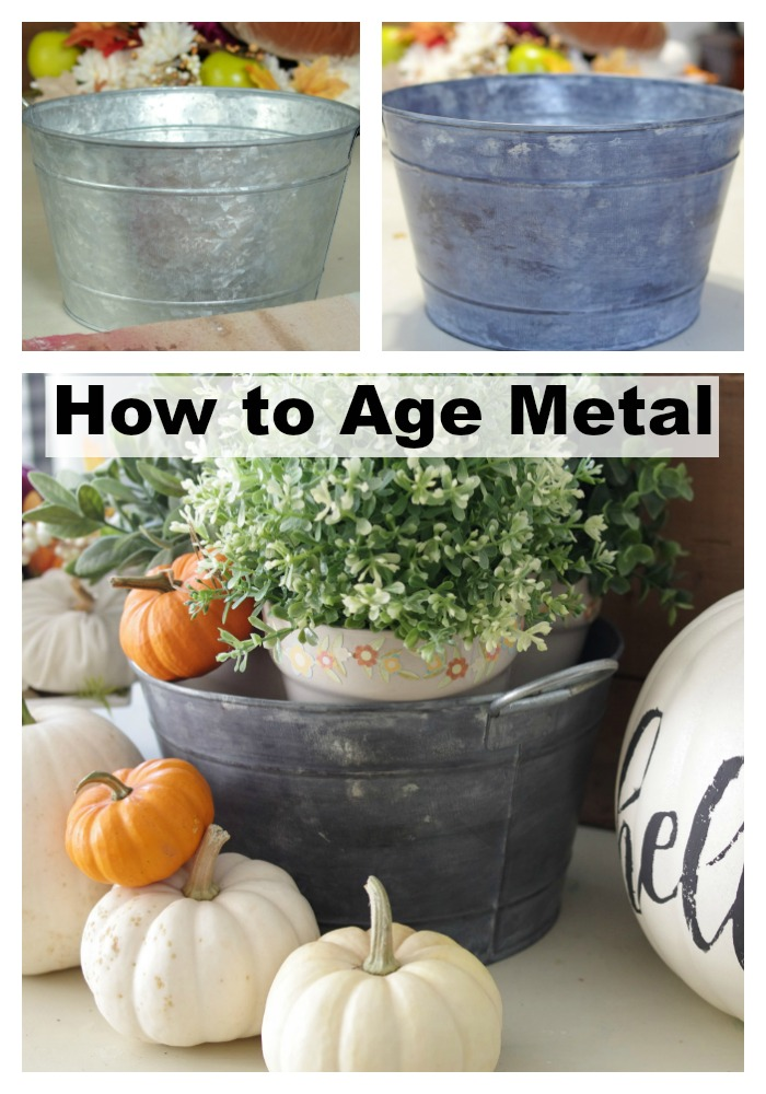 How To Make A New Metal Bucket Look Old