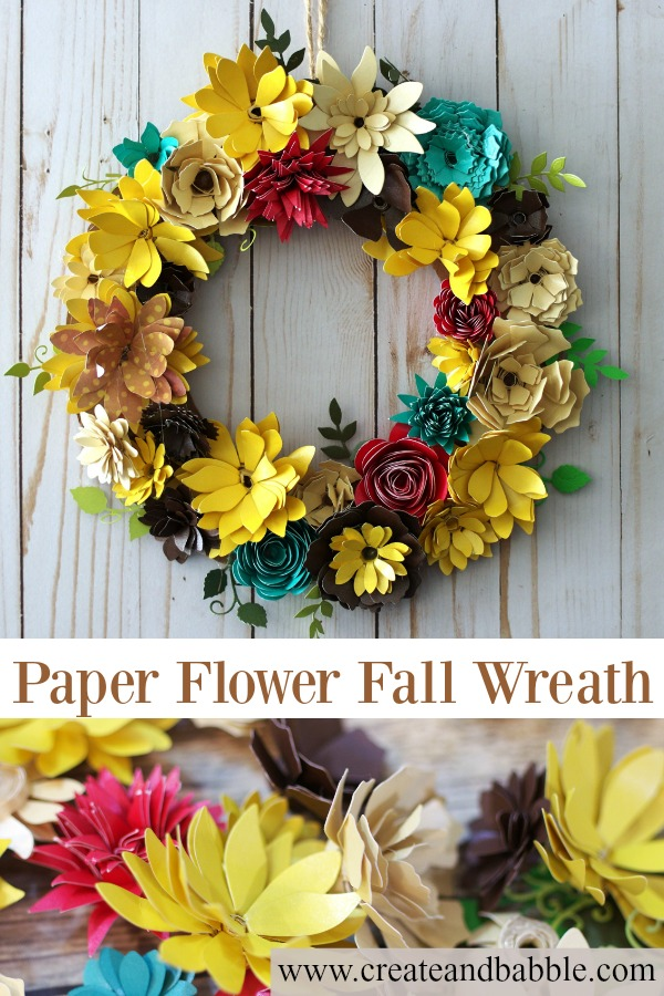 How to Make a Paper Flower Wreath for Fall with the Gemini Die Cutting Machine
