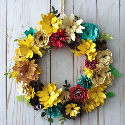 How to Make a Paper Flower Wreath for Fall with Gemini Die Cutting Machine