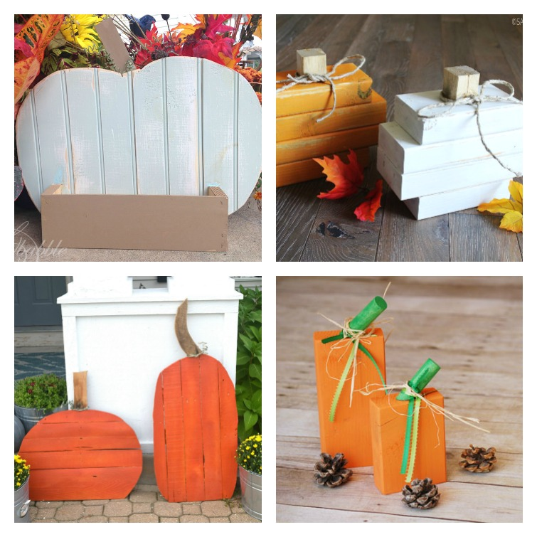 Scrap Wood Pumpkins Create and Babble Collage