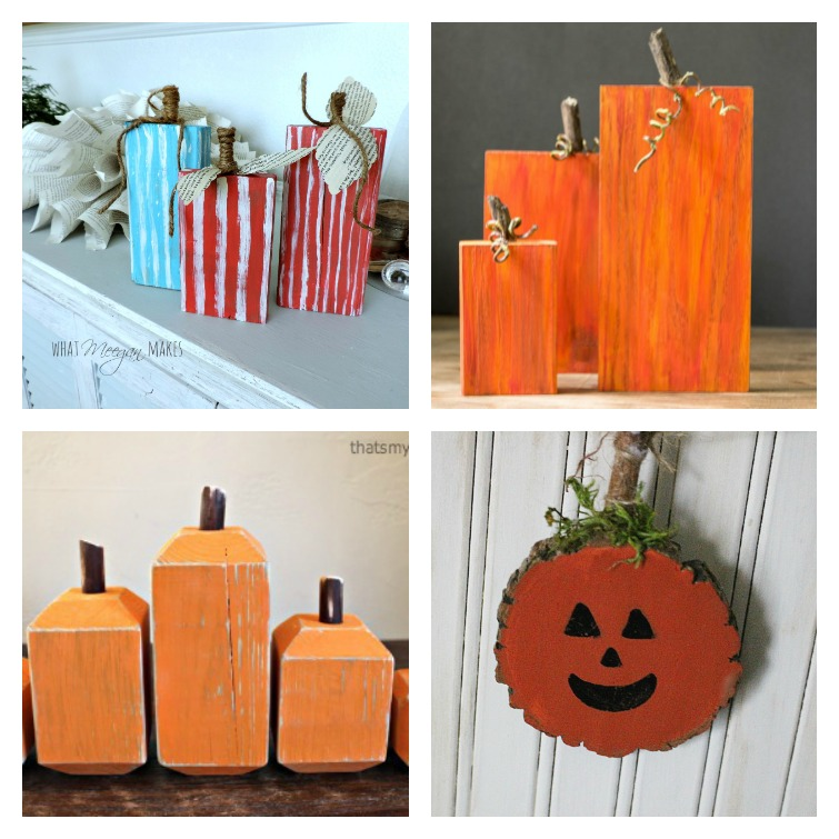 Wood Pumpkin Tutorial Collage Create and Babble