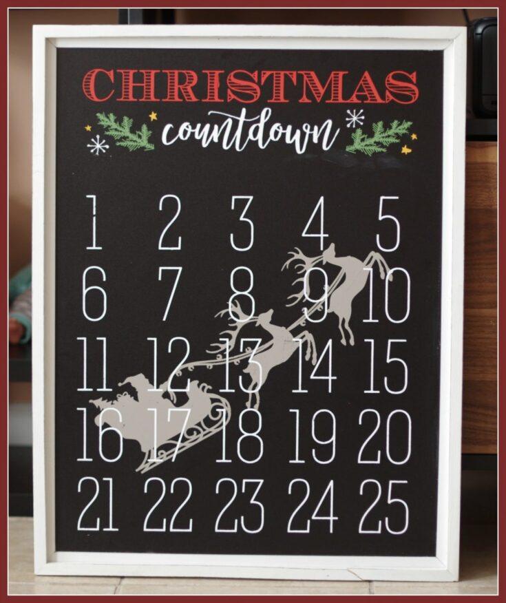 Chalk Couture Christmas Countdown Calendar
