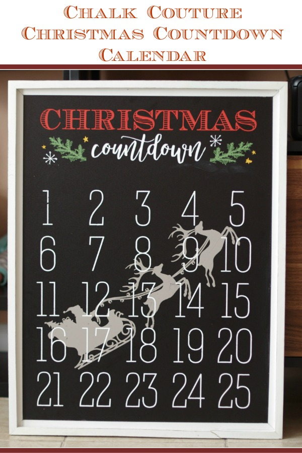 Chalk Couture Christmas Countdown Calendar