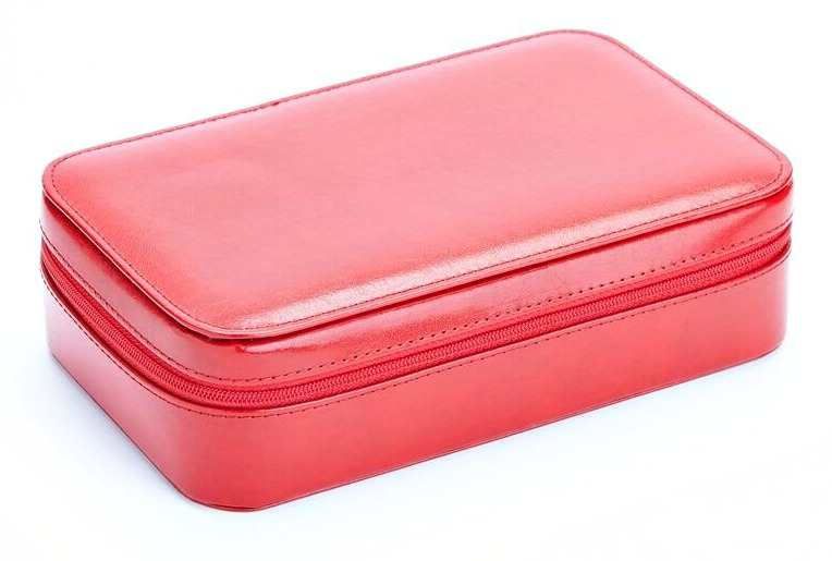 Genuine Leather Jewelry Travel Case