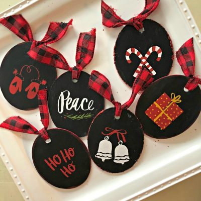 How to Use Cricut Maker and Chalk Couture to Make Christmas Ornaments