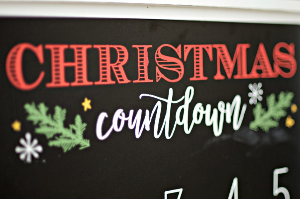 Chalk Couture Christmas Countdown Calendar Create And Babble
