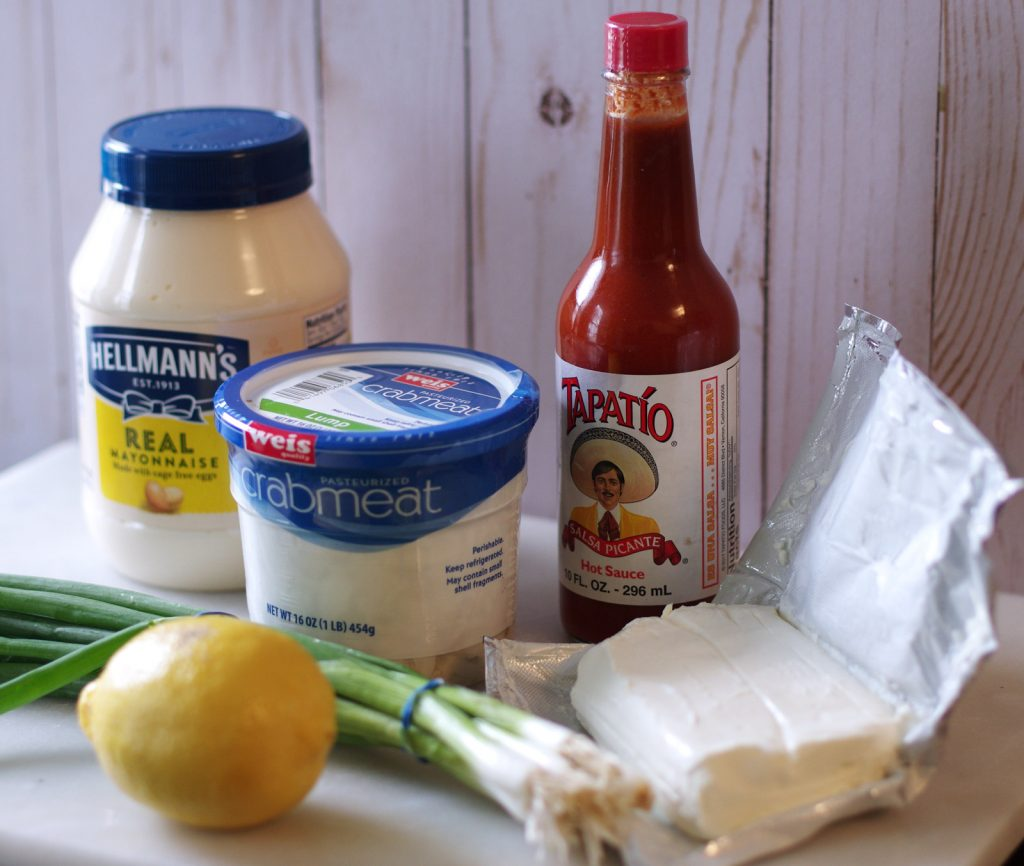 Ingredients for the Best Ever Crab Dip Recipe