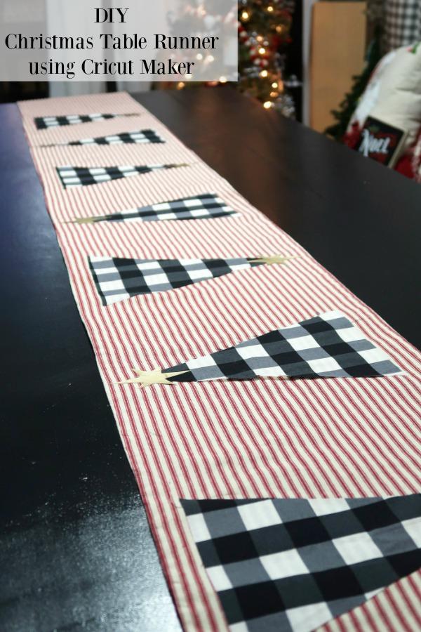 DIY Christmas Table Runner using Cricut Maker