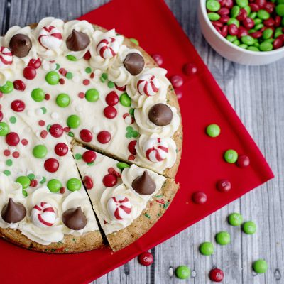 Christmas Sugar Cookie Cake from a Mix