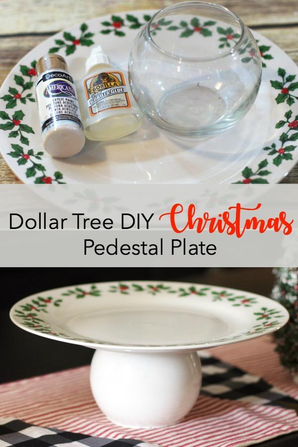 DIY Christmas Pedestal Plate - Create and Babble