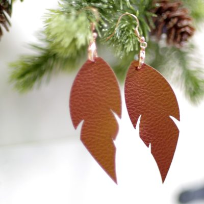 Cricut Made Gift Idea: Faux Leather Earrings