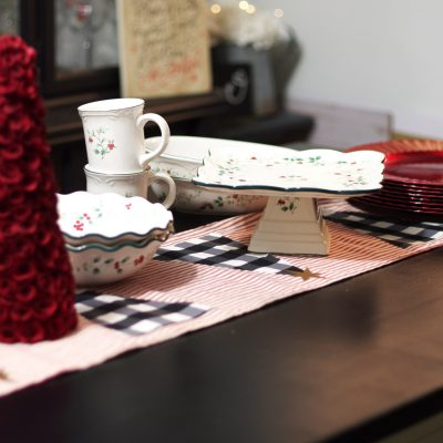 DIY Christmas Table Runner using Cricut Maker