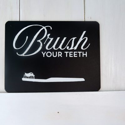 DIY Bathroom Signs