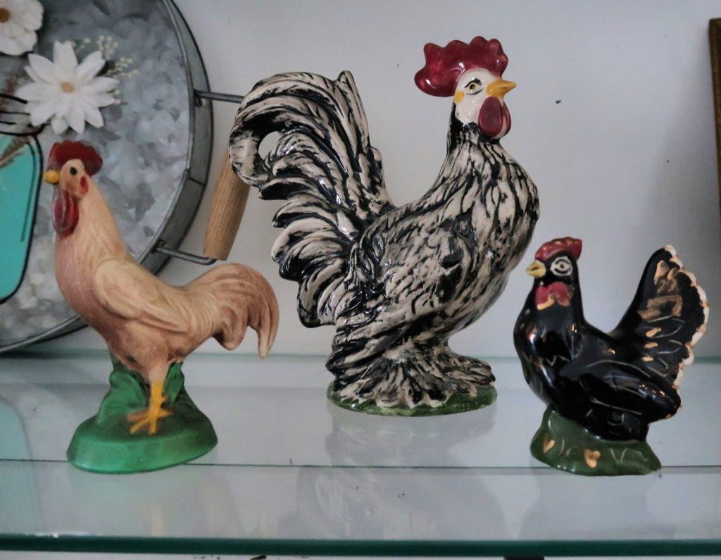 ceramic chickens