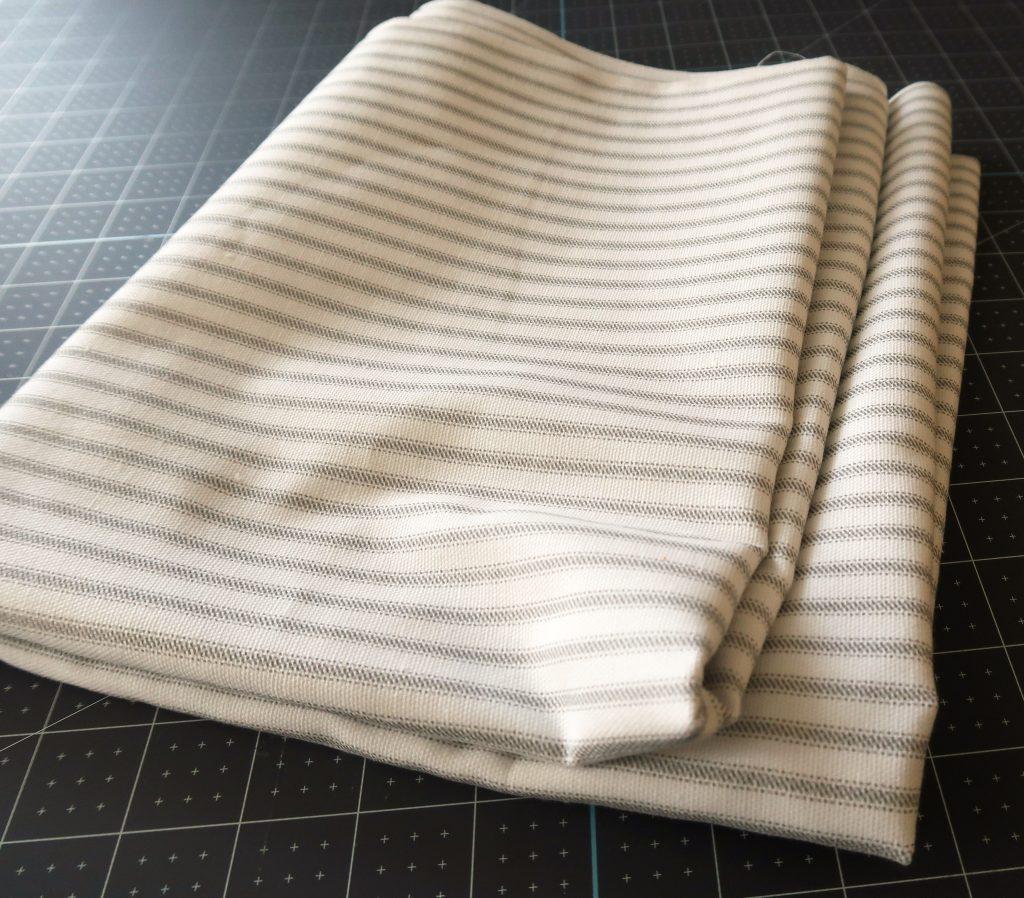 gray ticking fabric