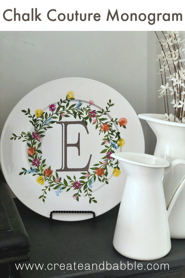 Spring Plate with Monogram Transfer