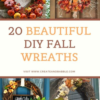 20 beautiful diy fall wreaths collage of 4 fall wreaths